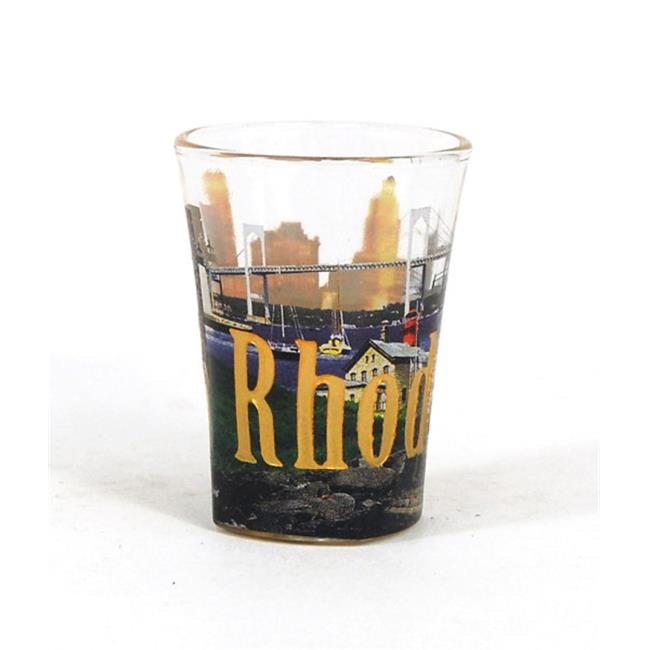 Americaware SGRDI01 Rhode Island Full Color & Etched Shot Glass by