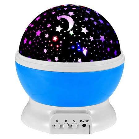 EEEKit 360 Degree Romantic Room Rotating Cosmos Star Sun And Star Lighting Lamp 4 LED Bead Light Starry Moon Sky Night P
