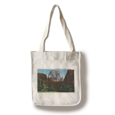 Zion National Park, Utah - View of the Great White Throne (100% Cotton Tote Bag - Reusable) (Baby Mk Bag)