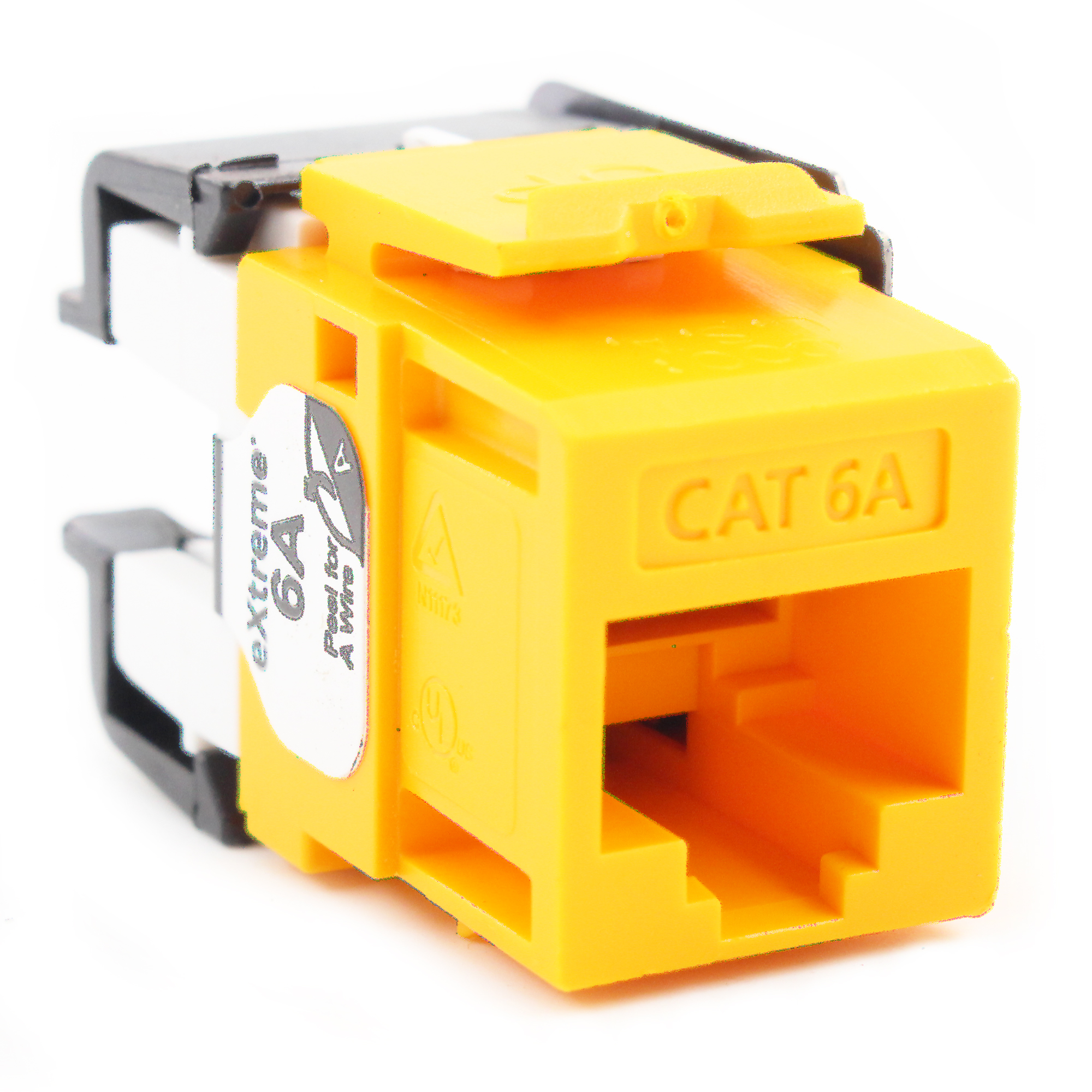 Leviton Yellow Cat 6A 10G Quickport Jack Cat6A RJ45 6110G-RY6