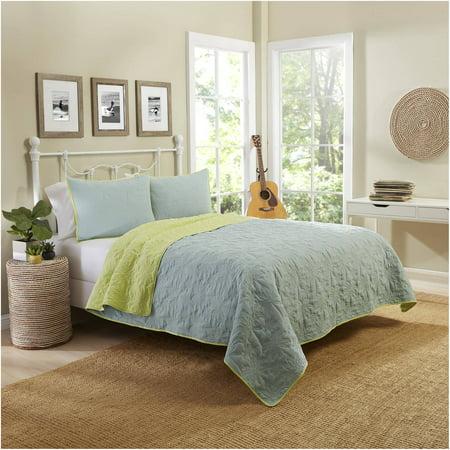 Vue Zuma Beach Reversible Cotton Quilt Set - Walmart.com