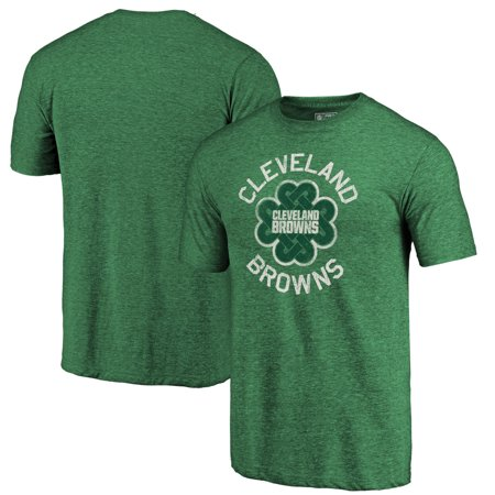Cleveland Browns NFL Pro Line by Fanatics Branded St. Patrick's Day Luck Tradition Tri-Blend T-Shirt - Green Cleveland Browns Ultimate Fan Helmet