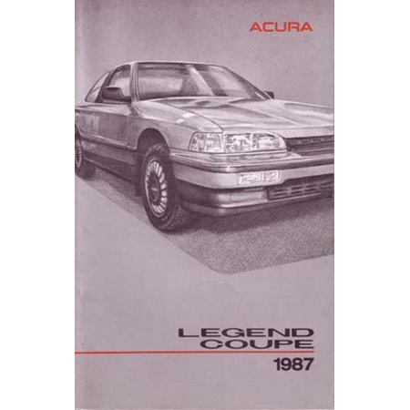 Bulb Legend Coupe (Bishko OEM Maintenance Owner's Manual Bound for Acura Legend Coupe 1987 )