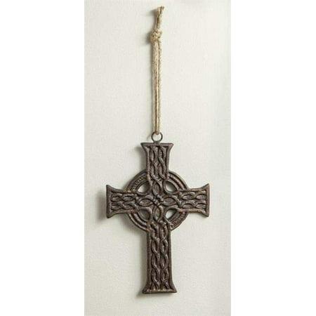 Celtic Knot Irish Cast Iron Wall Cross, 6.75