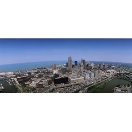 Aerial view of buildings in a city Cleveland Cuyahoga County Ohio USA Canvas Art - Panoramic Images (15 x 6)](City Of Parma Ohio Halloween)