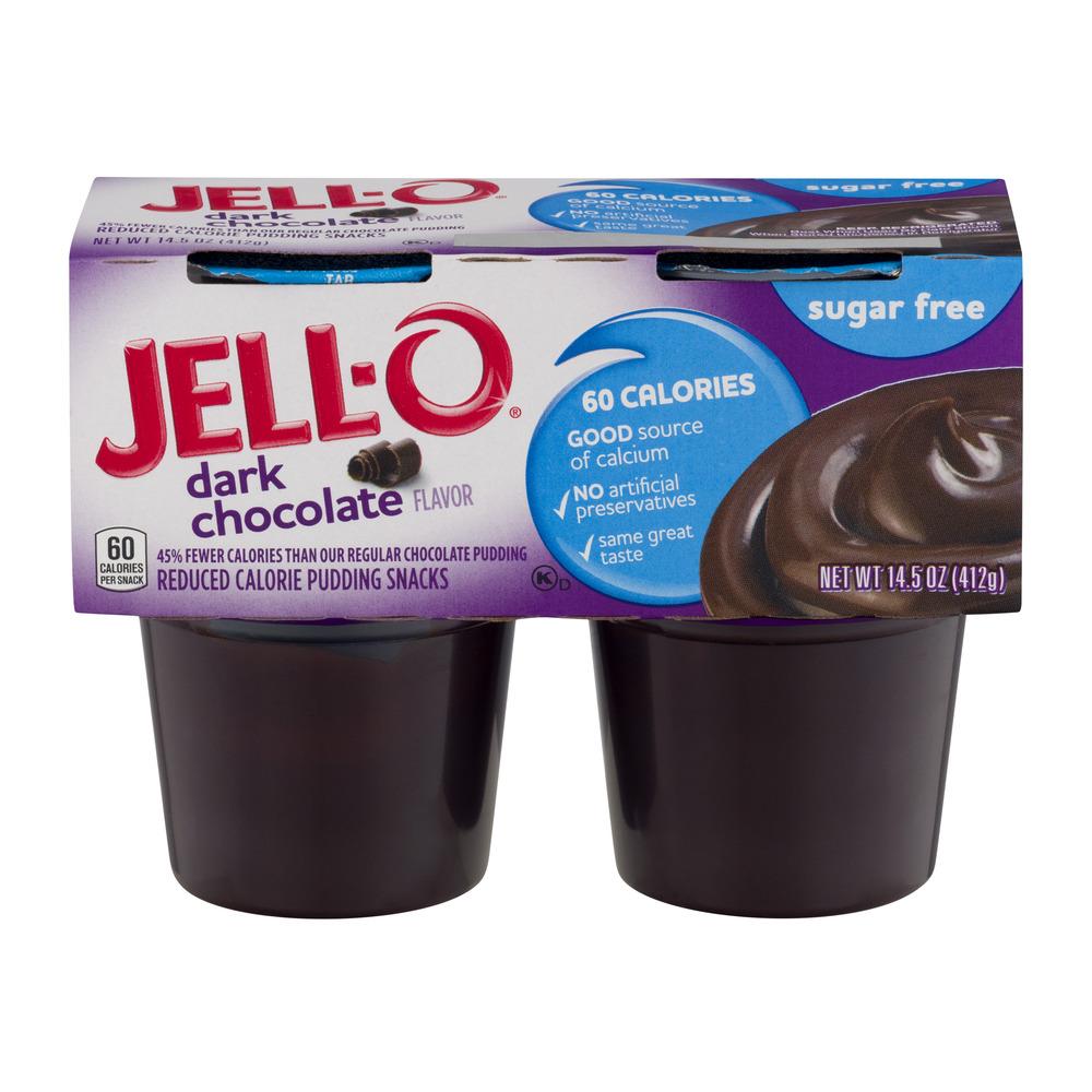Jell-O Sugar Free Dark Chocolate - 4 CT