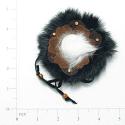 Expo Int'l Flower Faux Suede with Fur Applique