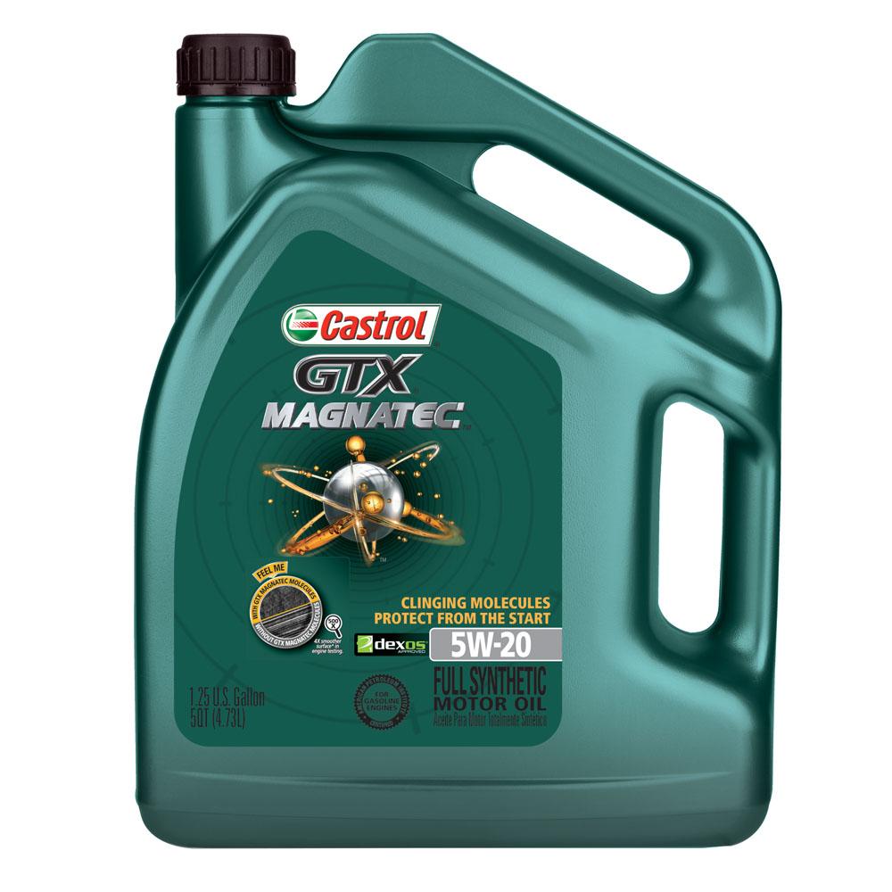 Castrol GTX MAGNATEC 5W-20 Full Synthetic Motor Oil, 5 qt