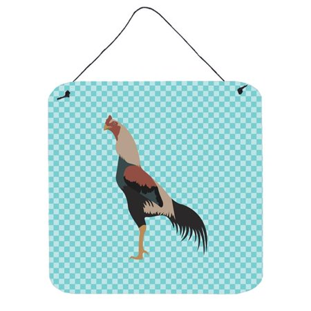Carolines Treasures BB8012DS1216 Kulang Chicken Blue Check Wall or Door Hanging Prints - image 1 of 1