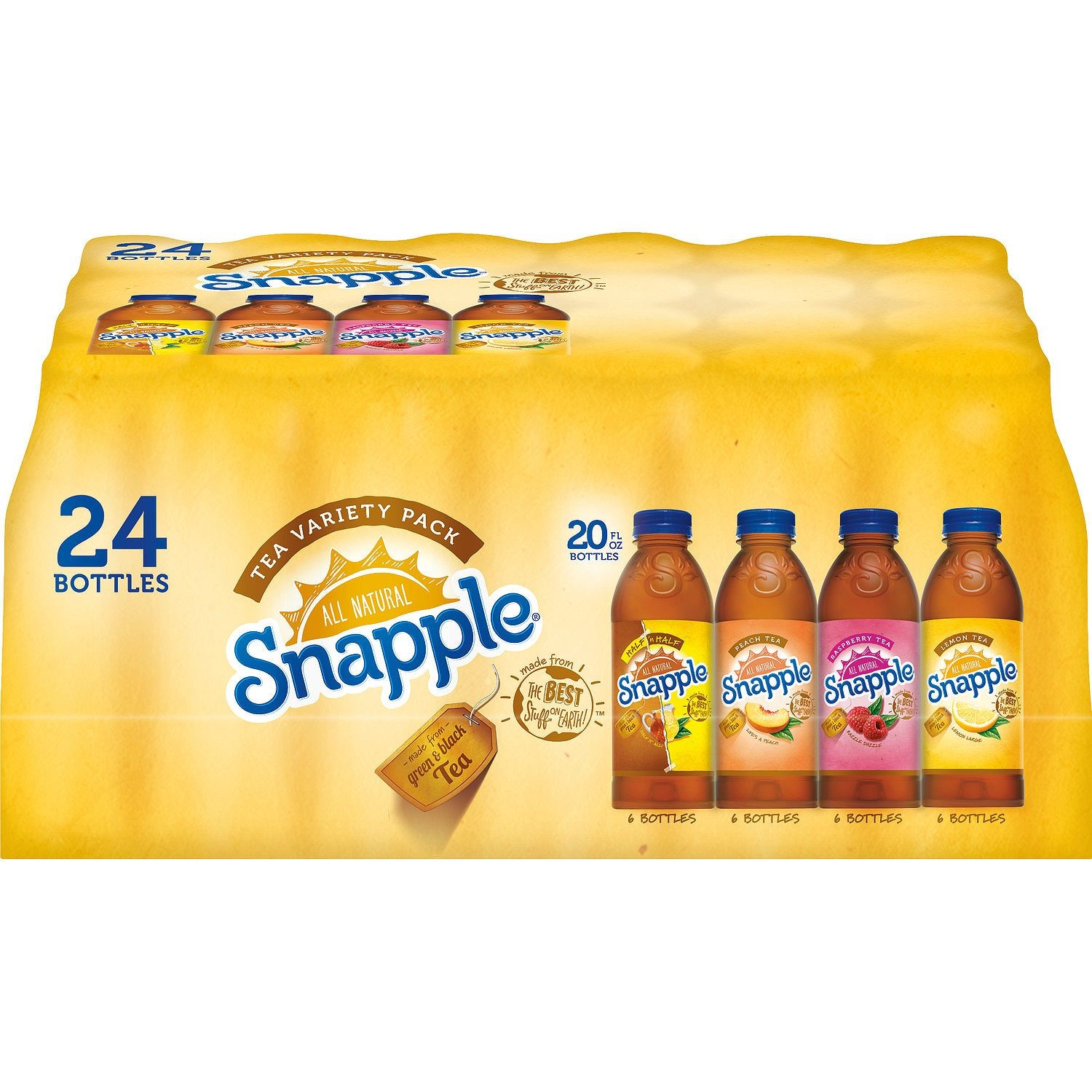 Snapple Iced Tea Variety Pack, 20 Fl Oz, 24 Ct