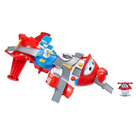 Super Wings - Jett's Takeoff Tower 2-in-1 Toy Playset | Includes Figure | Pop 'n Transform (Best Plays To Read)