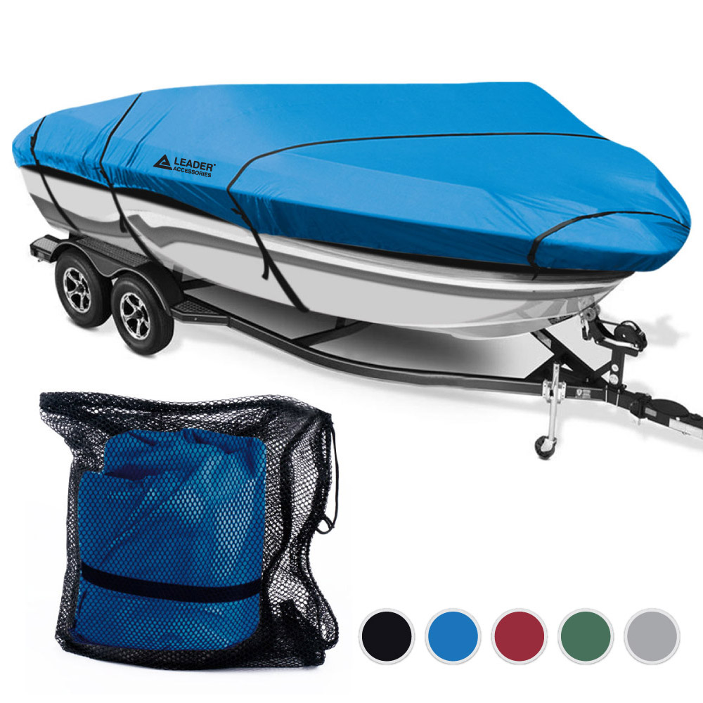 Leader Accessories 300D Polyester 5 Colors Waterproof Trailerable Runabout Boat Cover Fit V-hull Tri-hull Fishing Ski... by Leader Accessories
