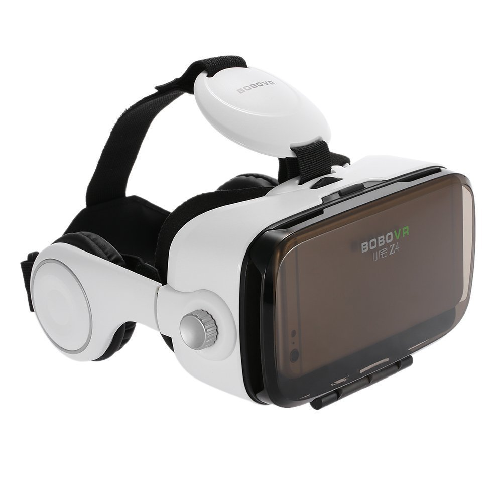 SAVA BOBOVR Z4 3D VR Virtual Reality Headset 3D Glasses VR BOX with Headphone for 4.0~6.0 Inches IOS Android Smartphones iPhone 6/6 plus, Samsung Galaxy S6 Edge+, Adjustable Focal Distance