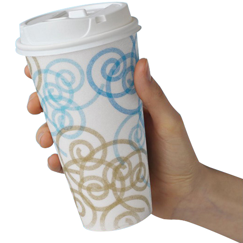 Georgia-Pacific Dixie PerfecTouch Whimsy Coffee Dream Insulated Paper Hot Cup, 16 oz. | 1000/Case