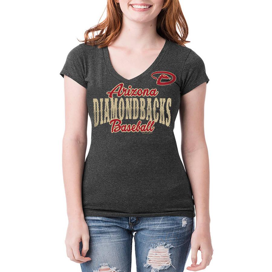 Arizona Diamondbacks Womens Short Sleeve Team Color Graphic Tee