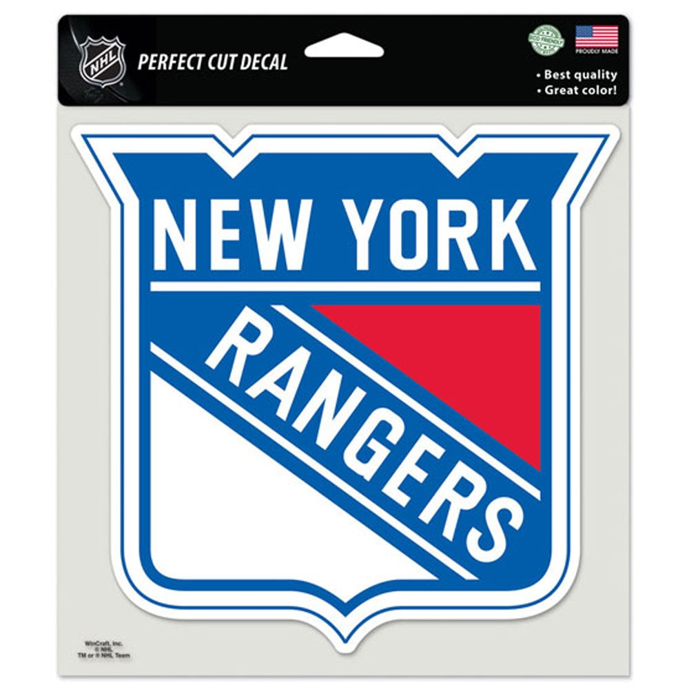 New York Rangers Official NHL 8 inch x 8 inch  Die Cut Car Decal by Wincraft