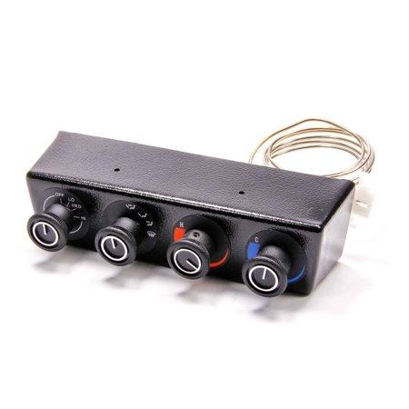 VINTAGE AIR Black 4 Knob Gen II Base Model Climate Control Panel P/N 49200-RHA