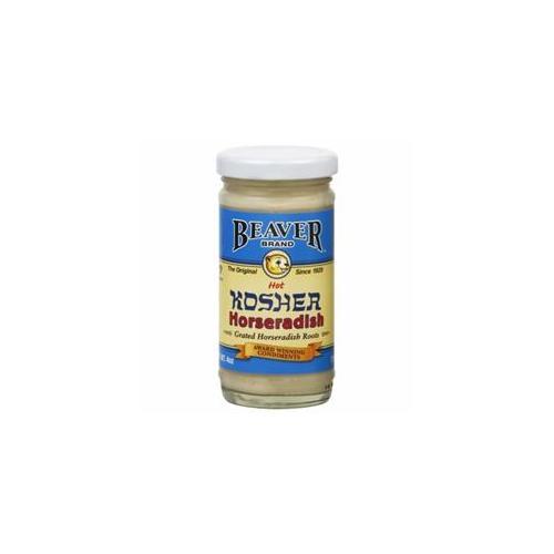 Beaver Brand Horseradish Kosher Prepared, 4 OZ (Pack of 12) by Beaver