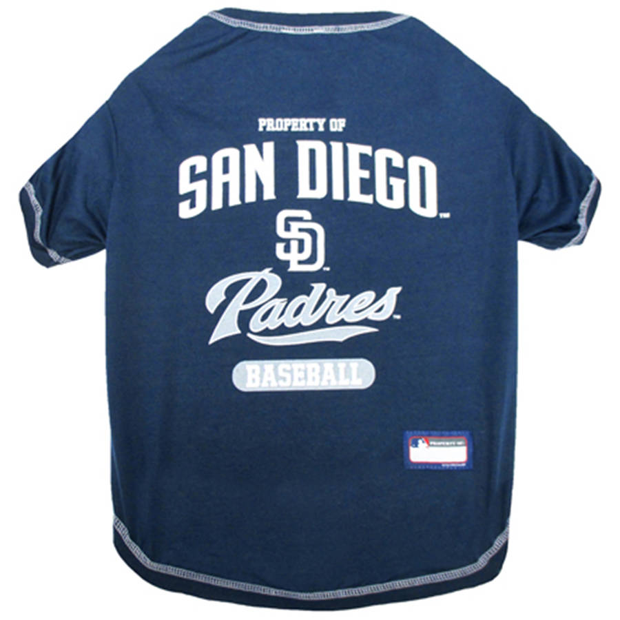 Pets First MLB San Diego Padres Pet T-shirt, Assorted Sizes by Pets First