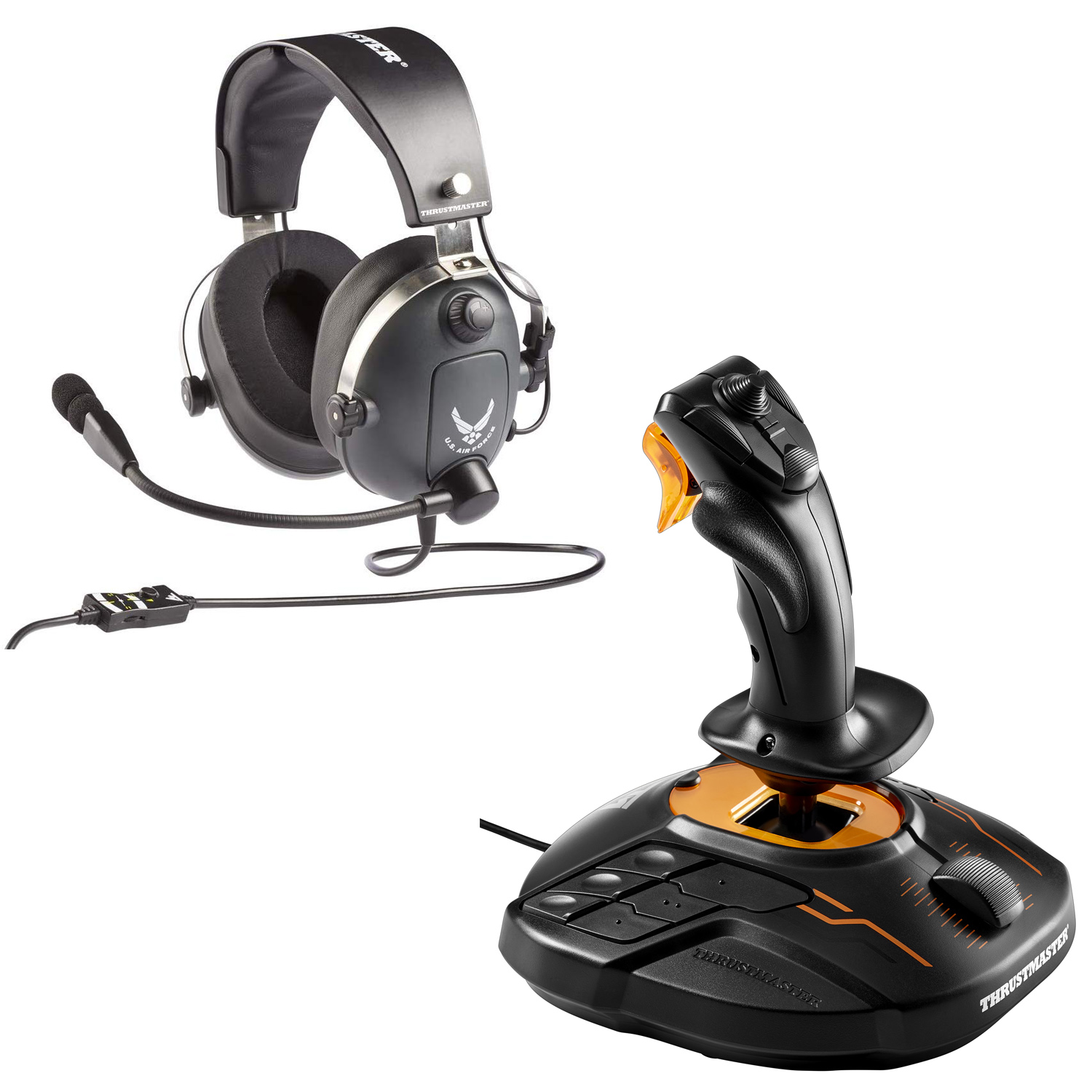 Thrustmaster, Y-Flying USAF Edition Headset + T16000M FCS, PC, Black, 02329