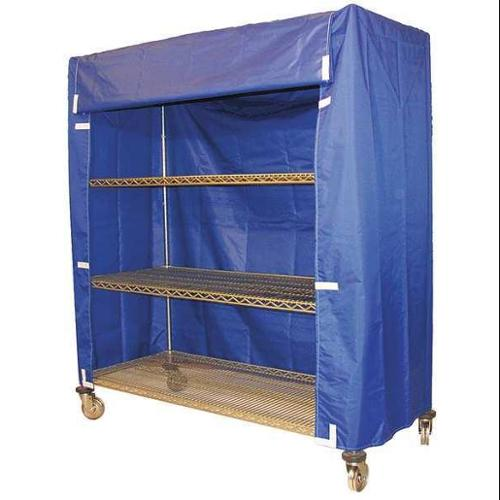 33Y361 Cart Cover, 48x24x74, Blue, Nylon
