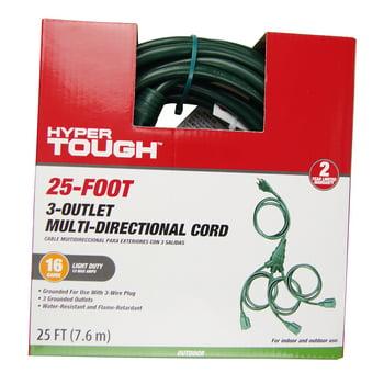 Hyper Tough Outdoor 3ol W Type Cord Set