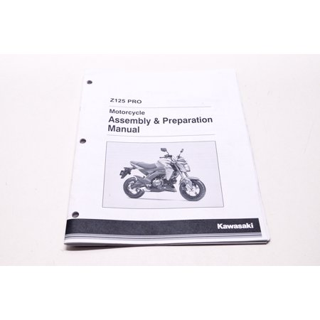 Kawasaki 99931-1568-01 Z125 Pro Motorcycle Assembly & Preparation Manual  QTY 1