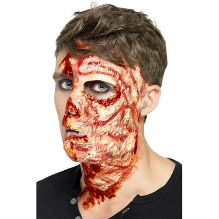 Scar On Face Halloween (Burnt Face Scar Adult Costume)