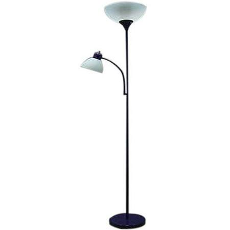 Mainstays combo floor lamp purple walmartcom for Mainstays floor lamp with table walmart