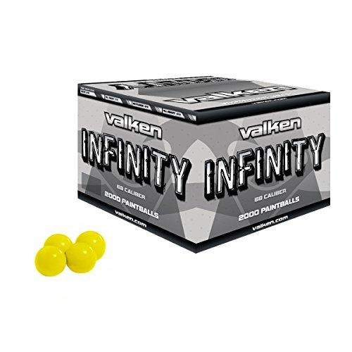 Valken 28148 Infinity Paintballs - Yellow Fill 2000 Count