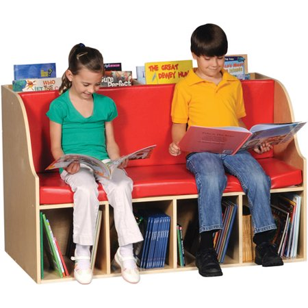 guidecraft sit and store reading center red walmart com