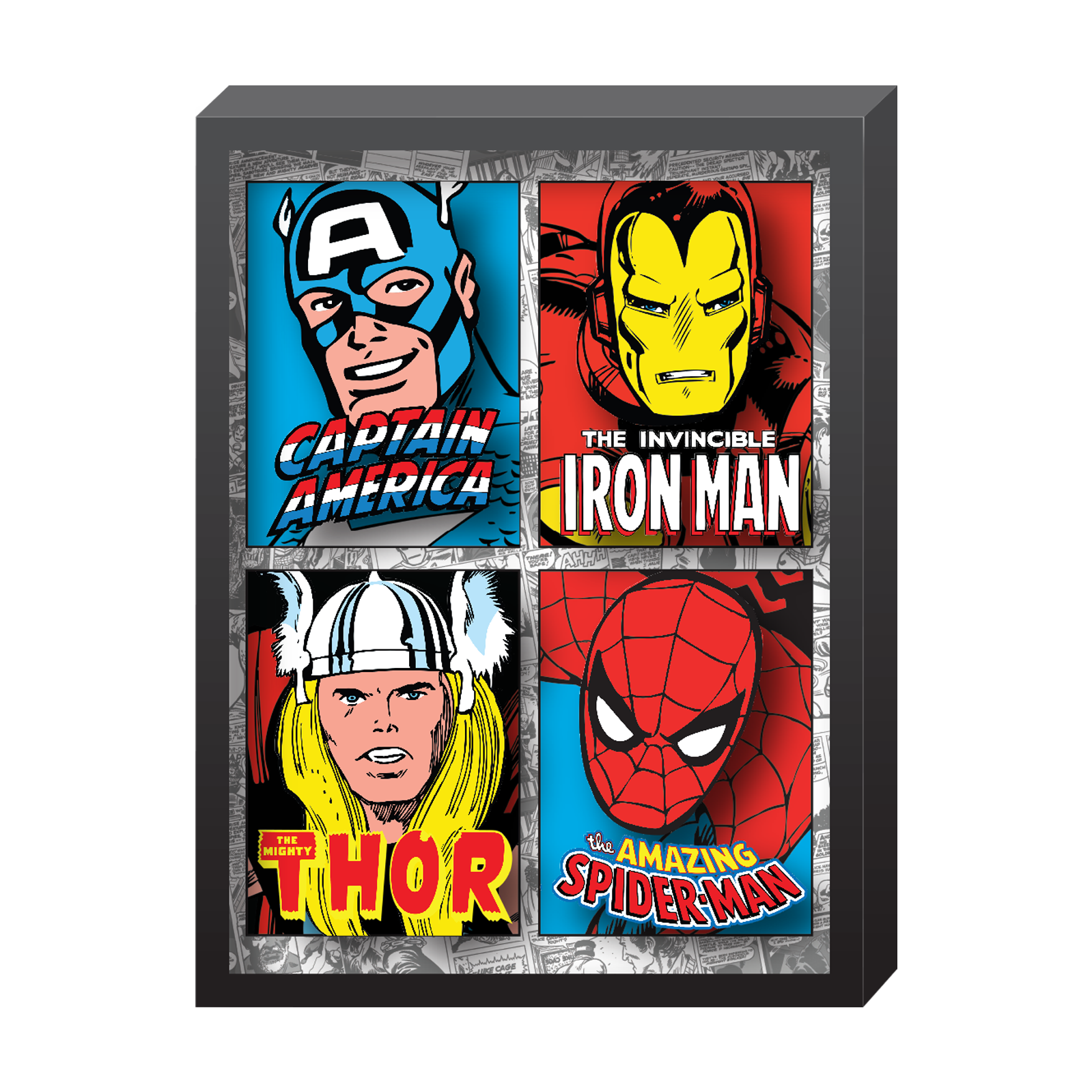 Marvel, Avengers, Comic Printed Glass in Shadowbox Frame