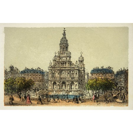 Gravure  Paris En 1874  L    8482 Glise De La Trinit   8482   172   169   Coll Canvas Art     36 X 24