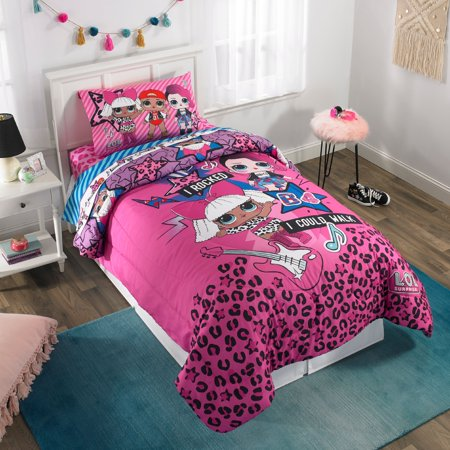 L.O.L. Surprise L.O.L. Rock Kids Bedding Comforter, Twin/Full