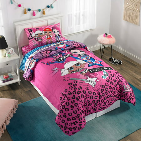 - L.O.L. Surprise L.O.L. Rock Kids Bedding Comforter, Twin/Full