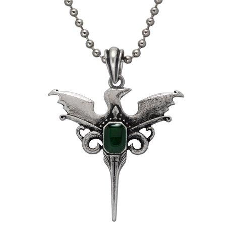 Phoenix Sword Pendant with Green Gem (Phoenix Stone)