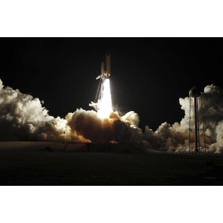 Space Shuttle Discovery Lifts Off From Launch Pad 39A At Kennedy Space Center In Florida On The Sts 131 Mission Canvas Art   Stocktrek Images  34 X 23