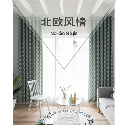 Homeholiday 2pcs Printing Lantern Thermal Insulated Curtain Soundproof Window Drape Blinds Bedroom Blackout Panels Walmart Canada