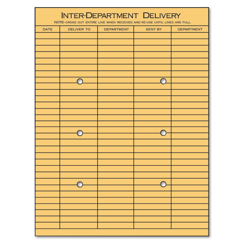 Universal Light Brown Kraft String & Button Interoffice Envelope, 10 x 13, 100/Box -UNV63568
