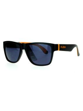 2bc18904592 Product Image Kush Brand Soft Cushion Arm Sport Matte Horn Rim Sunglasses  Blue