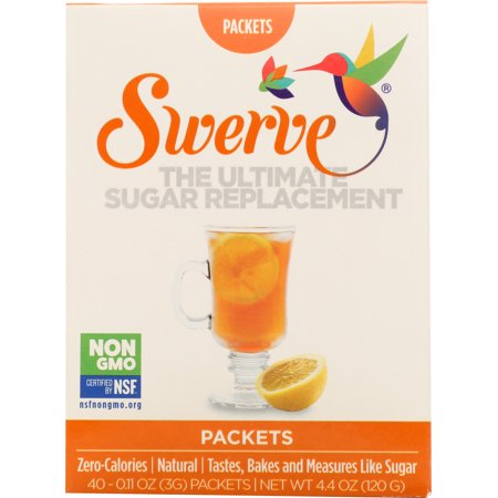 Swerve Sweetener, Sugar Packets Replacment, 40 Packets