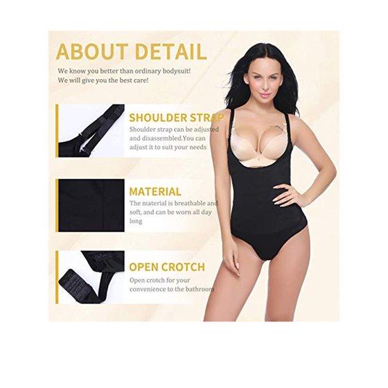 0acd9ba1fc09f Lelinta - LELINTA Womens Full Body Shapewear Breathable Seamless Tummy  Control Open Bust Bodysuit Body Shaper - Walmart.com