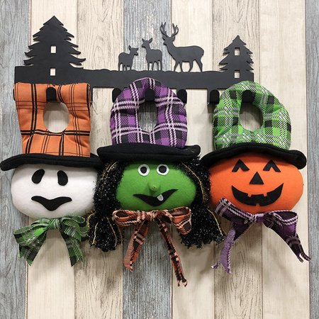 Halloween Stuffed Door Hanger Doll Wall Tree Hanging Toy Halloween Party Supplies Decoration Ornaments--Ghost - image 6 de 6