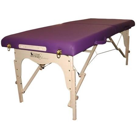 Solutions Simplicity Portable Wood Massage Table-Color:Teal