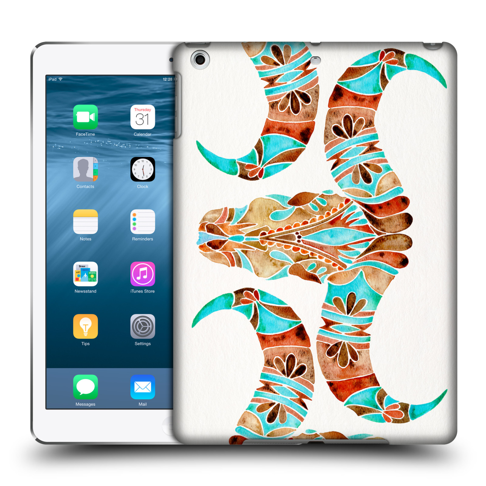 OFFICIAL CAT COQUILLETTE WATERCOLOUR 2 HARD BACK CASE FOR APPLE IPAD