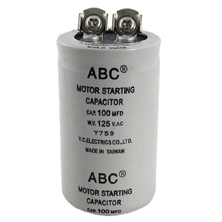 100uf 100mfd 125v ac motor starting capacitor gray