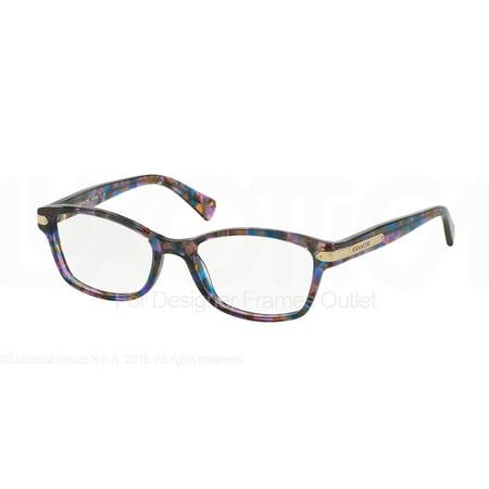 ad49a4cbac COACH Eyeglasses HC6065 5288 Confetti Purple 49MM - Walmart.com