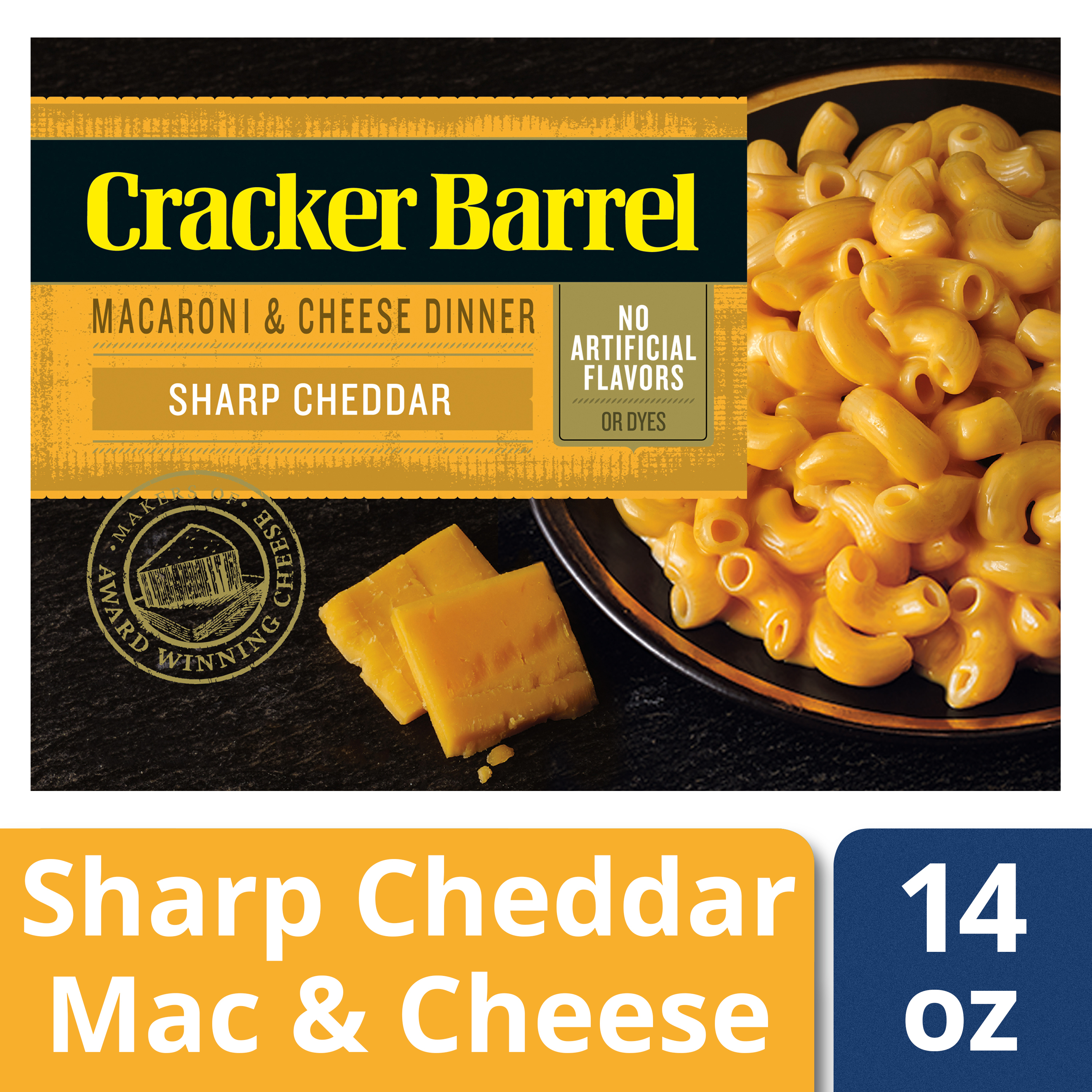 Cracker Barrel Macaroni & Cheese Dinner Sharp Cheddar 14 oz Box