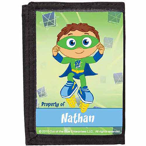 Personalized Super Why! Super Duper Wallet