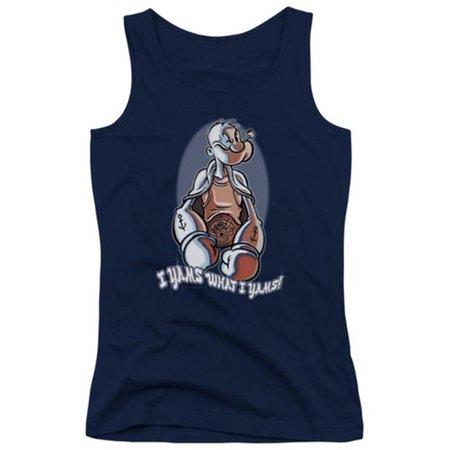 Popeye-I Yams Juniors Tank Top, Navy - Large - image 1 of 1